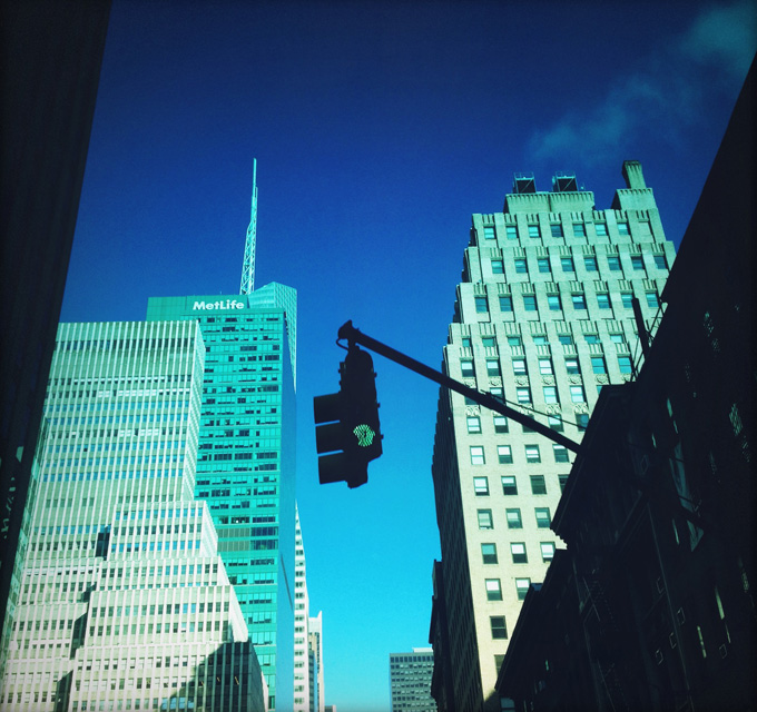 riding 6th Ave.